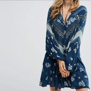 Free People From Your Heart Tunic Mini Dress